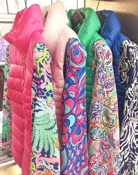 lilly pulitzer allie packable quilted vests over elsa tops