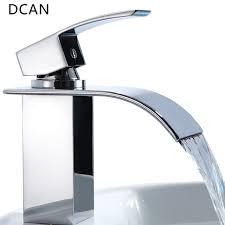 rubinetto water dcan lavandino bagno rubinetti cascata sink faucet chrome