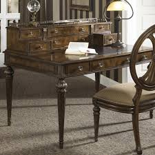 writing desk with drawers traditional syle writing desk with nine drawers and leather top by