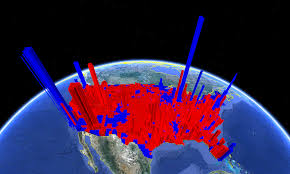 National Election Results Map by Seeing The 2012 Presidential Election Results In 3d The Urban Nomad