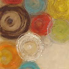 decorative artwork for homes colored circles modern abstract painting decorative artist canvas