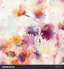 floral background watercolor floral background greeting stock
