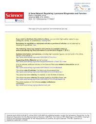 a gene network regulating lysosomal biogenesis and function pdf