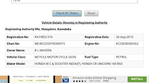 vehicle registration info ind android apps on google play
