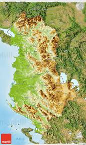 Physical Map Of Greece by Physical 3d Map Of Albania Satellite Outside Shaded Relief Sea