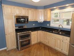 Blue Floor L Kitchen Simple And Kitchen Design With L Shaped Wooden