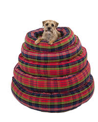 dog nesting bed canine styles green tartan red tartan nesting bed dog bed