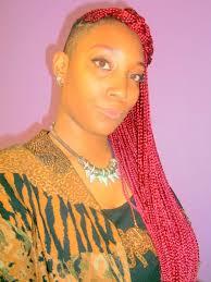braids with half shaved head 45 photos of rockin red box braids