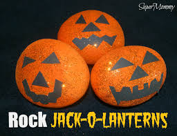 rock jack o lanterns easy kid u0027s halloween craft u0026 diy