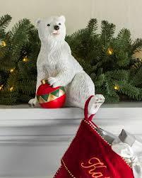 Christmas Ornament Holders Polar Bear Family Stocking Holder Balsam Hill