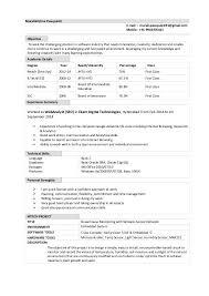 Sample Resume For Freshers How To Make Resume For Freshers Bio Data Sample For Entry Level