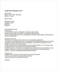 10 work resignation letter free word pdf documents download