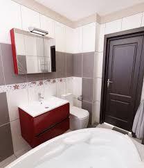 badezimmer rot ideen ehrfürchtiges badezimmer in grau bilder 3d interieur
