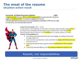 Fictional Resume Resume Advice Intuit Careers Facebook Video Chat Feb 2011