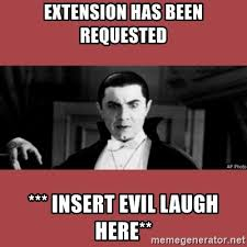 Meme Evil Laugh - extension has been requested insert evil laugh here