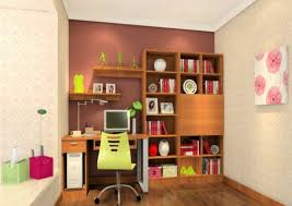 interior design study room with pink wallpaper 3d house