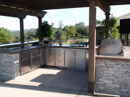prefabricated kitchen island kitchen awesome outdoor kitchen idea with u shaped gray brick