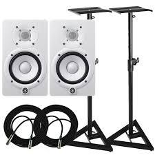 Desk Studio Monitor Stands by Yamaha Hs5 Monitors U0026 Stands Package Frontendaudio Com