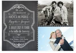 30 ans mariage invitation anniversaire de mariage sous forme de pêle mêle pour