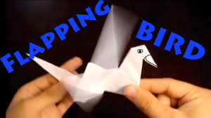 how to make an origami flapping bird rob u0027s world youtube