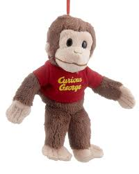 curious george personalized ornament