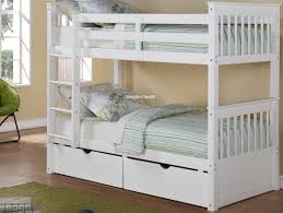Bunk Bed White White Bunk Beds Quaqua Me