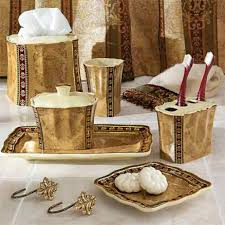 decor bathroom accessories very pretty bath set love the rich gold