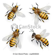 clip art vector of honey bees flying csp9546636 search drawings