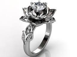 wedding rings flower images Flower diamond rings wedding promise diamond engagement rings jpg