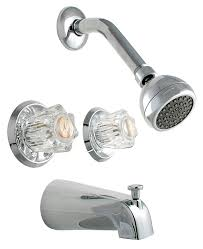 ldr 011 8700 double handle tub and shower faucet chrome two