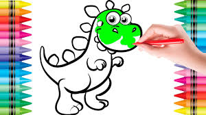 coloring pages dinosaur for kids drawing painting colouring art
