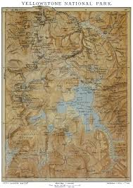 Yellowstone Park Map File Yellowstone National Park Historical Map Jpg Wikimedia Commons