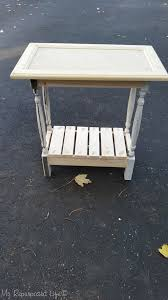 Making A Small End Table by Cabinet Door Table Easy Build My Repurposed Life