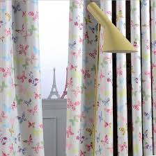 Washable Curtains Aliexpress Com Buy 2 Pieces Butterfly Printed Window Curtains