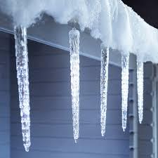 6 large snowing led icicle drop lights lights4fun co uk