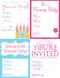 free printable princess party invitations seriously adorable