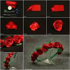 satin ribbon flowers how to diy pretty satin ribbon flower hairband satin