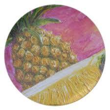 pink pineapple plates zazzle