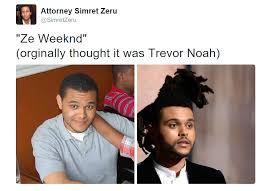 The Weeknd Hair Meme - hair doppelganger the weeknd twins short hair hair cut trevor noah