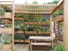 grow a vertical garden on your deck this is a very interesting