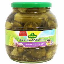 cuisine de a 0 z kuhne garlic barrel pickles 35 9 fl oz 1 06l