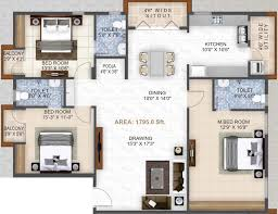 dharma construction residency floor plan 3bhk 3t 1 795 sq ft