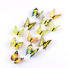 compare prices on decorative butterflies on walls online shopping top fashion cute 12pcs pvc 3d butterfly wall sticker adesivo de parede art decal stickers on