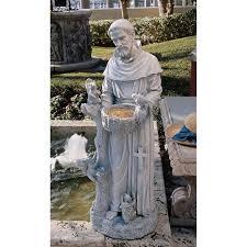 design toscano natures nurturer st francis garden statue