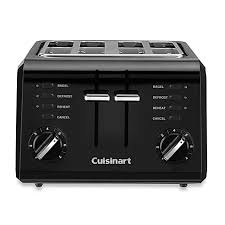 4slice Toasters Cuisinart Black Compact Cool Touch 4 Slice Toaster Bed Bath