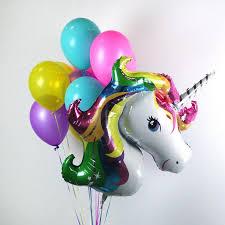 balloon bouquet rainbow unicorn balloon bouquet zurchers balloons