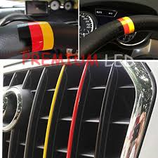 Flag Car Decals 2pcs Germany Flag Color Stripe Decal Sticker For Euro Car Audi Bmw