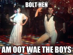 Hen Meme - bolt hen am oot wae the boys listen up pinterest hens and meme