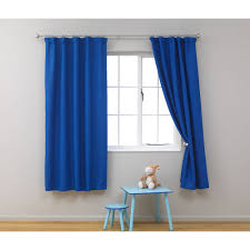 Blue Window Curtains Interior Awesome Window Decor With Panel Blue Blackout