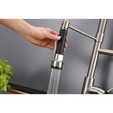 pre rinse kitchen faucets ruvati rvf1290st 28 inch pre rinse spray commercial style kitchen